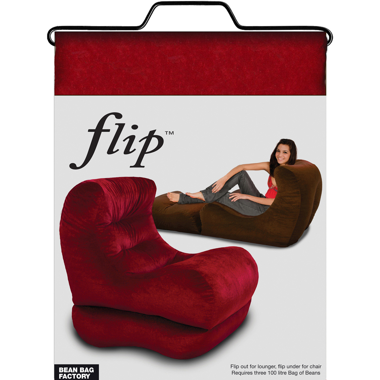 Stupendous Flip Lounger Red Onthecornerstone Fun Painted Chair Ideas Images Onthecornerstoneorg